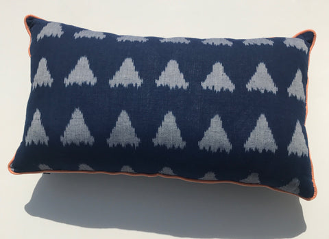Blue Ikat Cushion Set