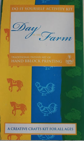 DIY Indian Craft Kit: Hand Block Printing Day in the Farm