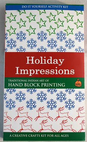 DIY Indian Craft Kit: Hand Block Printing Holiday Impressions