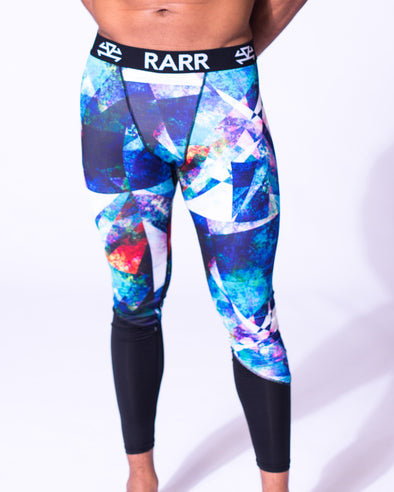 TechSkin Diagonal Print Compression Tights