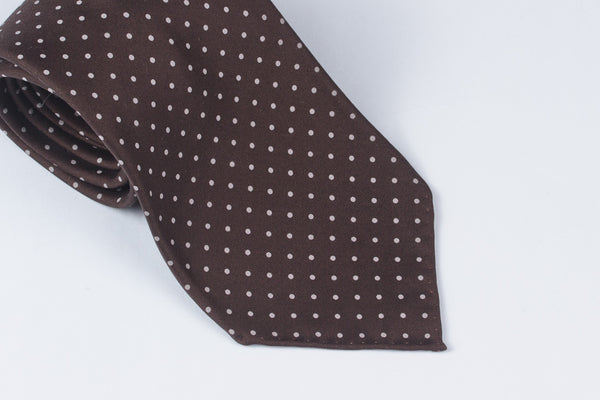 Brown-White Printed Dots