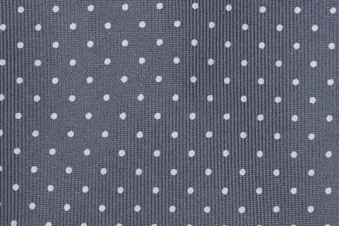 Grey-White Printed Dots Bow Tie