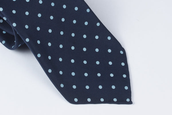 Navy-Light Blue Printed Spots