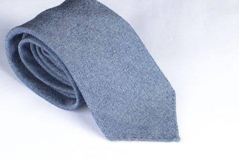 Blue-White Wool Oxford