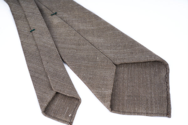Loro Piana Brown Herringbone