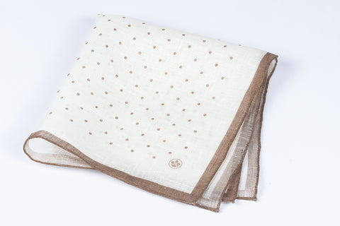 Brown Spots Linen Silk