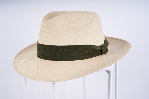 Panama Hat in Llano Weave with Custom Hatband