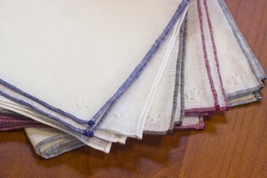 Set of Linen Pocket Squares