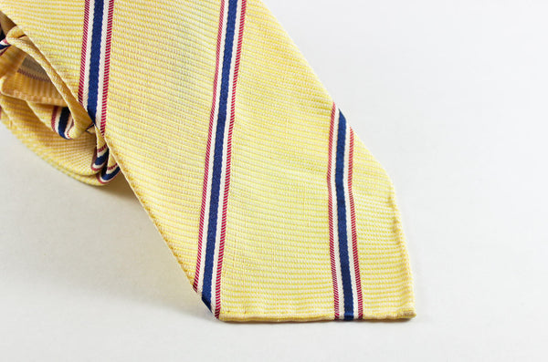 "3 1/2"" x 55"" - Yellow Silk Linen Repp"