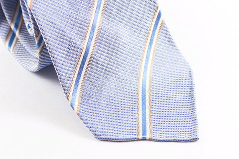 Light Blue Silk Linen Repp