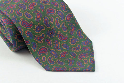 Green Small Madder Paisley