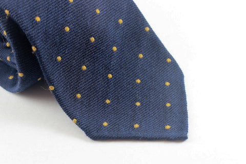 Blue-Yellow Spots in Silk Wool