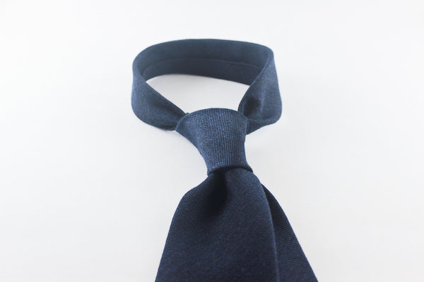 Blue Mélange Twill in Wool Silk