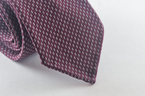 Burgundy Grey in Wool Silk