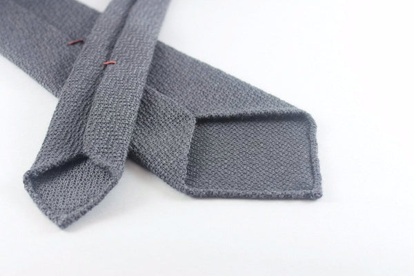 Grey Sawtooth in Wool Silk