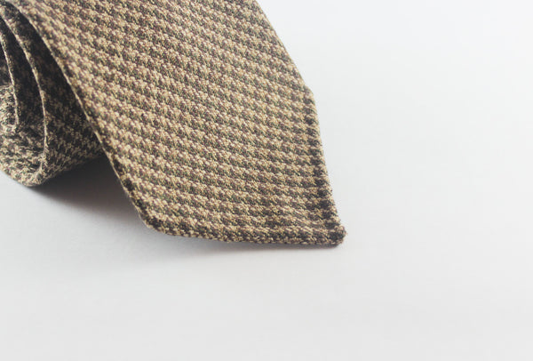 "3 1/2"" x 56 1/2"" - Brown-Olive Houndstooth"