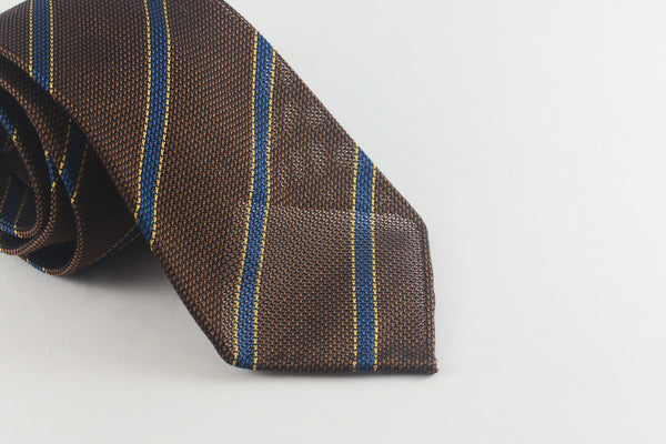 Mocha-Blue Striped Grenadine (Piccola weave)