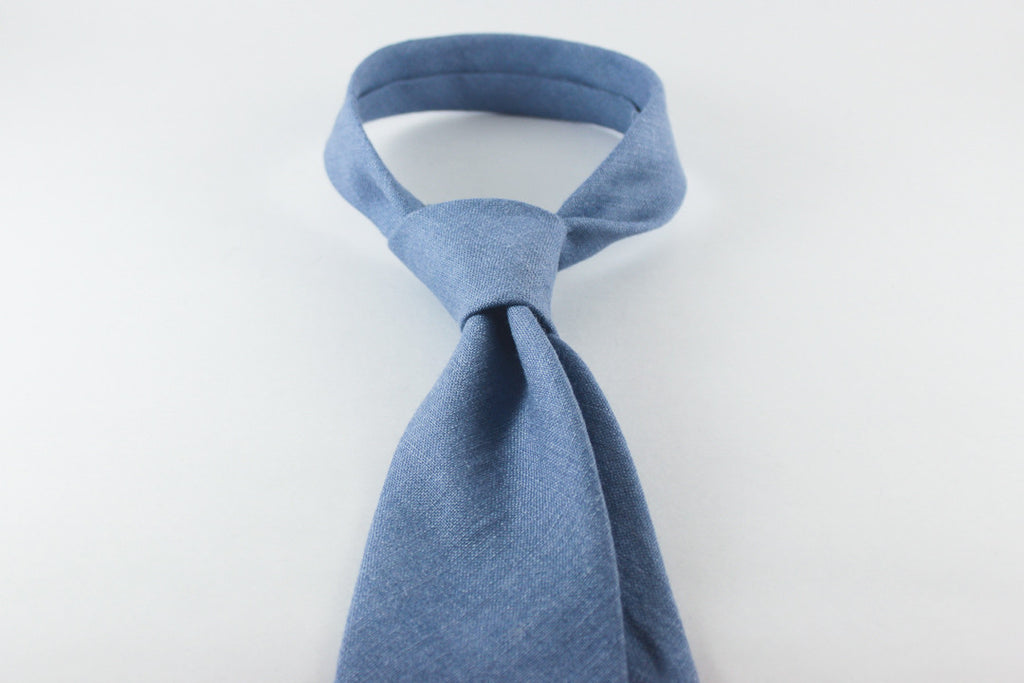 Light Blue Silk Linen