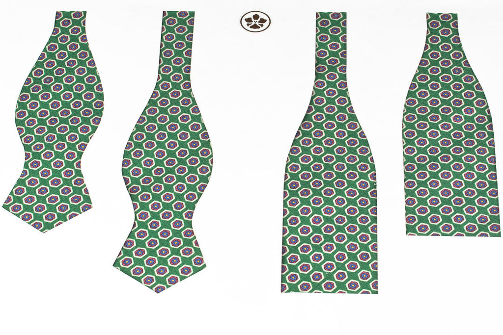 Green Hexagons Bow Tie