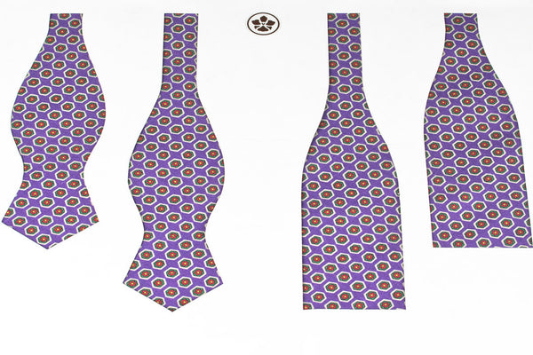 Purple Hexagons Bow Tie