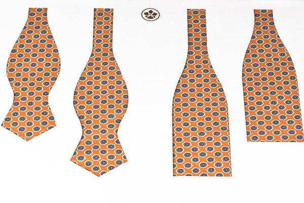 Orange Hexagons Bow Tie