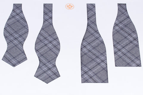 Smokey Grey Glencheck Bow Tie