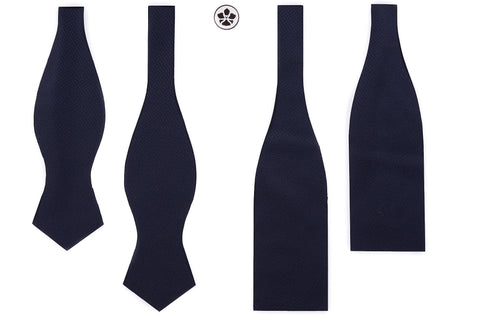 Navy Zigzags Bow Tie