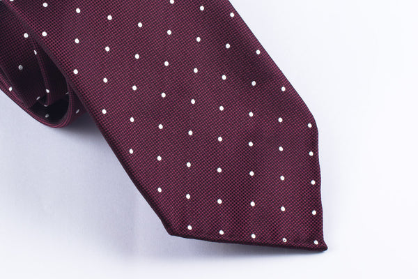 Burgundy-White Dots