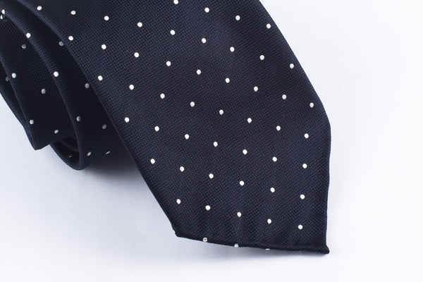Dark Navy-White Dots
