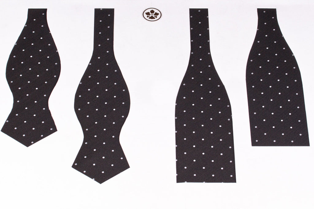 Brown-White Dots Bow Tie