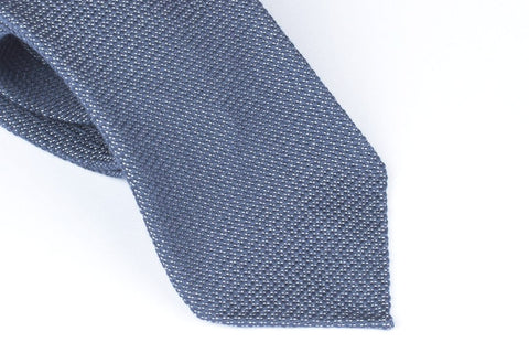 Steel Blue Sawtooth in Wool Silk