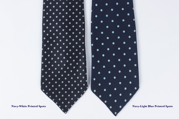Navy-White Printed Spots