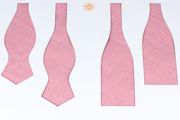 Pink Hopsack Bow Tie