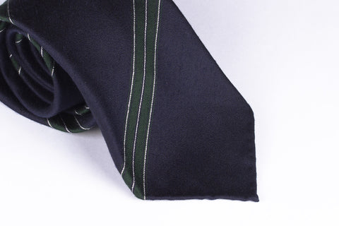 Navy-Green Wide Stripes