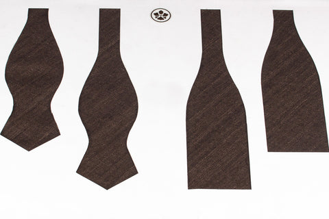 Chocolate Matka Bow Tie