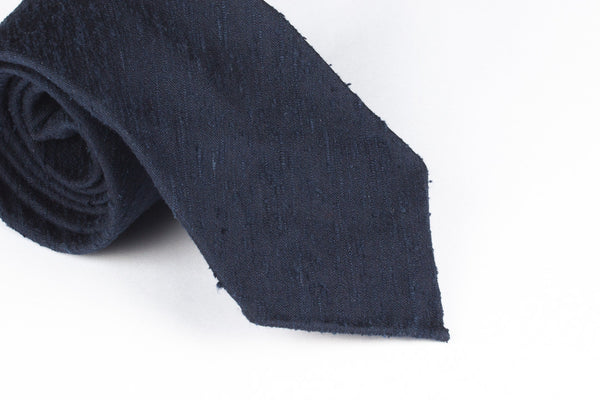 Solid Navy Shantung