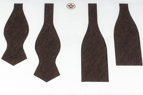 Solid Chocolate Shantung Bow Tie