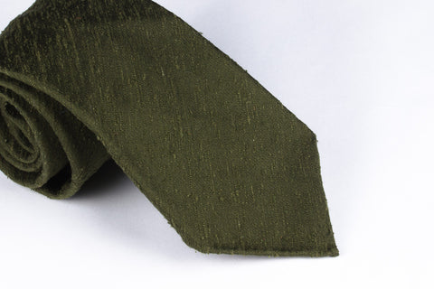 Solid Olive Shantung