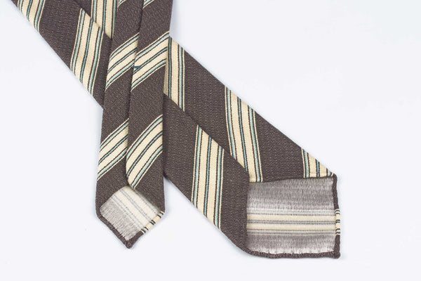 Brown-Cream-Cyan Stripes