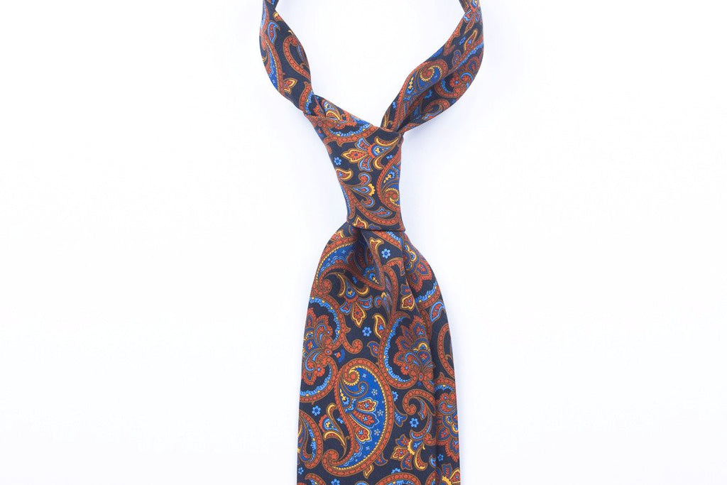 Dark Blue Large Paisley