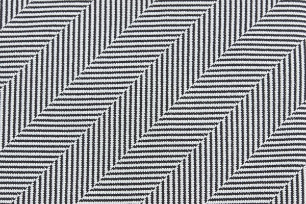 Black-White Silk Herringbone