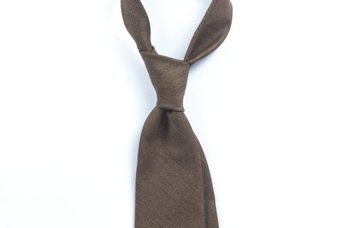 Undyed Escorial Brown Herringbone