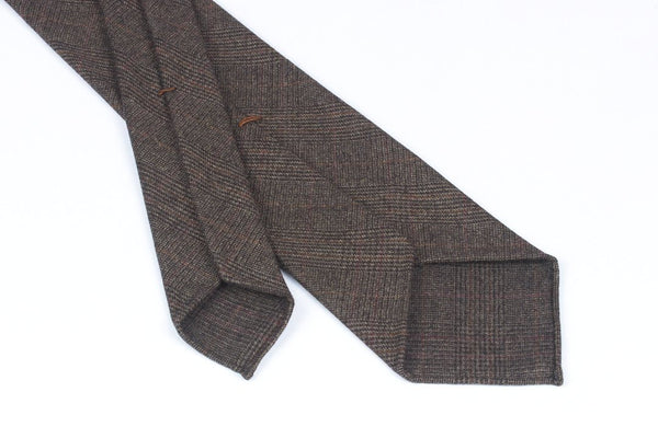 Escorial Brown-Burgundy Glencheck