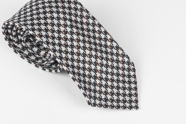 Navy-Brown Medium Houndstooth