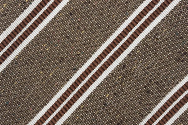 Tan-Rust Double Bar Silk Cotton