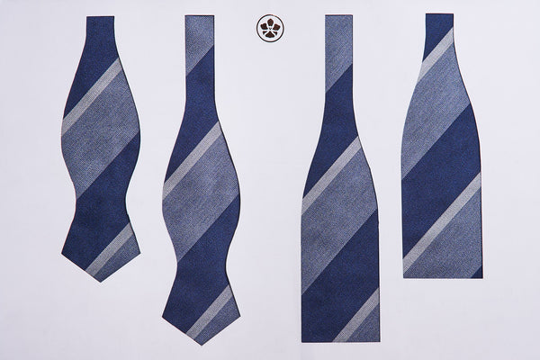 Blue-Grey Block Repp Bow Tie