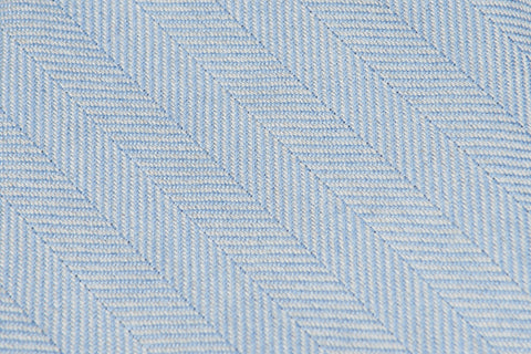 Light Blue Herringbone Cashmere Silk
