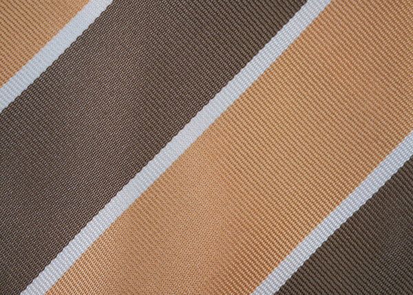 Pale Orange-Brown Block Stripes Bow Tie
