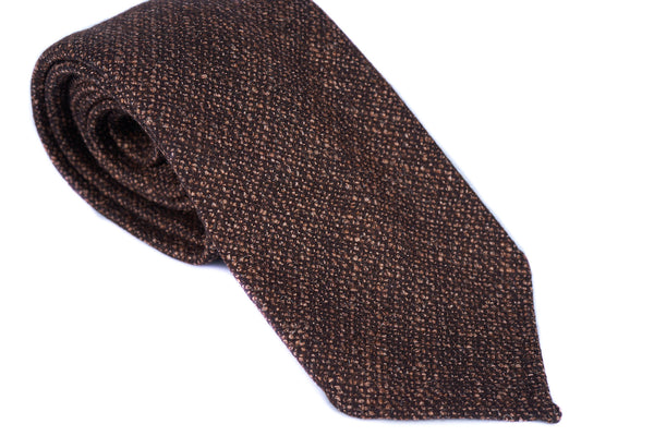 Brown Boucle Wool Silk