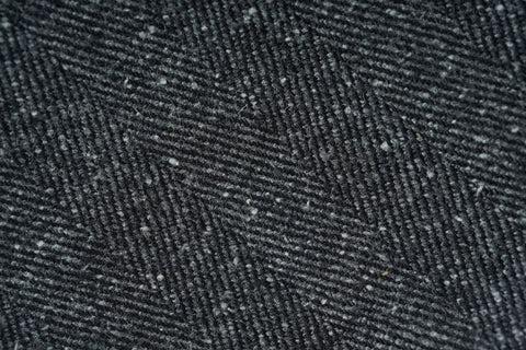 Grey Melange Herringbone Wool Silk